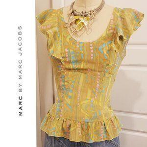 MARC JACOBS - Flirty Ruffle Silk Blouse - XS